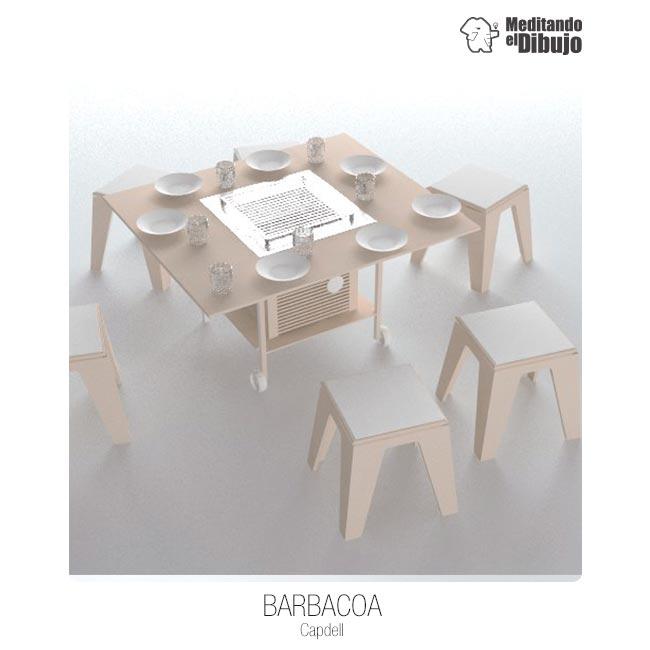 Barbacoa, Meditando el Dibujo